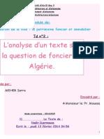 Analyse de Texte Sur Foncier