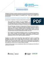 Orientaciones para el tallerista Presentación de las Propuestas