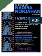 Nadira Norjahan Concert Flyer