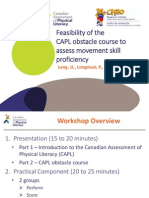 Feasibility of the CAPL Obstacle Course to Assess Movement Skill Proficiency