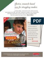 Word Callers Flyer