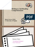 Using Writing to Aid Comprehension