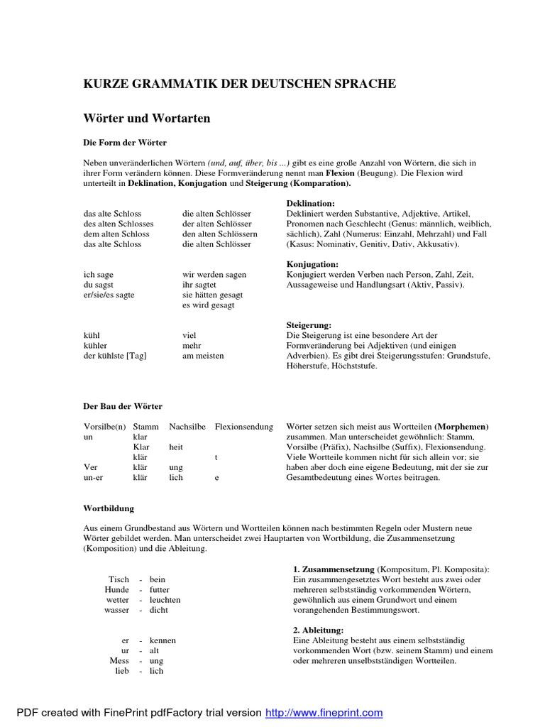 Gemütlich Zählen Und Massen Substantive Einer Tabelle Grad 3 ...