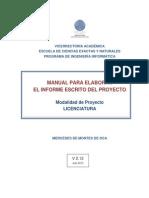 TFG- LIC- Manual Para Elaborar Informe Modalidad PROYECTO V2.12 JULIO 2015