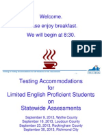 Accommodations for LEP Students_Fall 2013