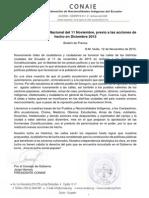Exitosa Movilización Nacional Del 11 Noviembre Previo a Las Acciones de Hecho en Diciembre