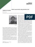 Busqueda de Neurotoxicidad de Anestesicos Locales en Ratas Usando La via Intratecal y Epidural