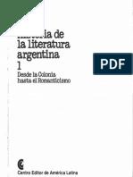 Historia de la literatura argentina