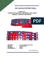 Memoria de Calculo Estructural-Archivo Historico