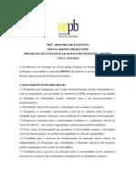 Edital Probex - Cota 2015-2016