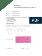 Ecuaciones Cuadráticas GUIA