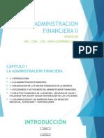 Sumario 1 La Administracion Financiera
