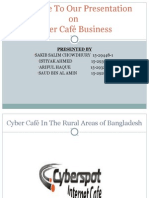 Presentation of cyber cafe