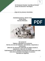 Tecnología de la producción industrial Eje número 6)