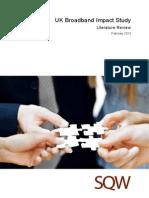 UK Broadband Impact Study - Literature Review - Final - February 2013