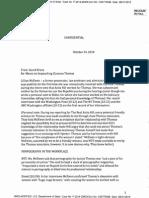 Hillary Clinton's 2010 Memo to David Brock Re Memo on Impeaching Clarence Thomas