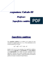 Superficies Cuadricas CALCULO 3