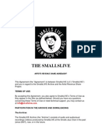 Smalls Jazz Club Contract