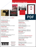 Duke University Press program ad for the Organization for American Historians conference 2016