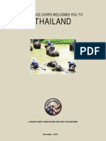 THE PEACE CORPS WELCOMES YOU TO THAILAND  November 2015