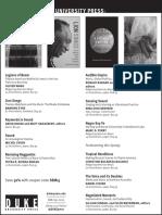 Duke University Press program ad for the Society for Ethnomusicology conference 2015
