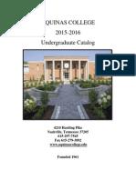 2015-2016 Aquinas College Undergraduate Catalog