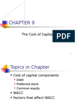 Ch09 the Cost of Capital