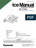 Manual de Servisio del Teléfono Propietario Analógico Panasonic KX-T7730x