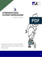 GUIA PRACTICA Tramitacion Licencias de Actividad en Navarra