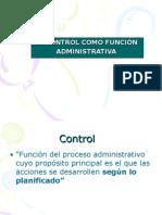 Clase 9 Control - Funcion Administrativa