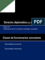 Derecho diplomatico 20 - Funcionarios consulares