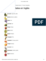 Frutas y Vegetales en Inglés