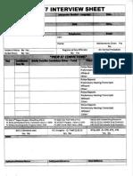Prop 47 Interview Sheet