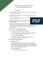 Terminología Matriz de Derechos Humanos
