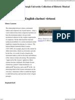 The Heritage of English Clarinet Virtuosi
