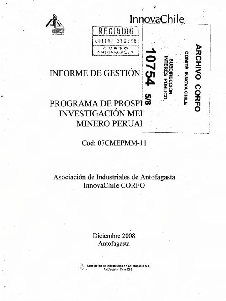 Prospeccion minero peruana