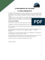 Guia y Reglamento de La Ultra Maraton de Los Andes