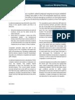 Locational Marginal Pricing Fact Sheet