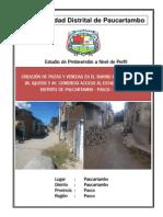 PIP Pistas y Veredas Huagaychan Comercio Iquitos