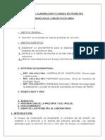 ELABORACION Y CURADO DE PROBETAS