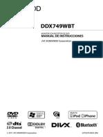 Manual de instrucciones radio Kenwood ddx771wbt