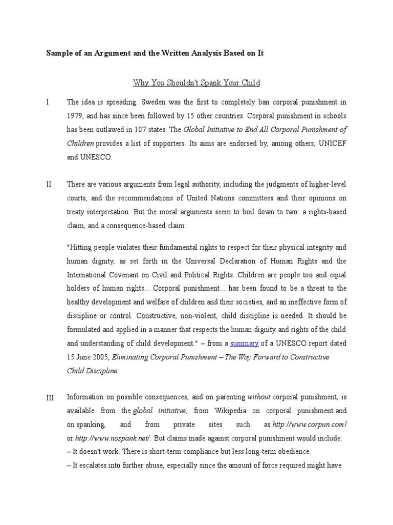 corporal punishment 6 essay
