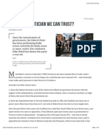 At Last, A Politician We Can Trust? • Inside Story