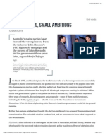 Small Targets, Small Ambitions • Inside Story
