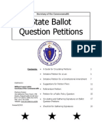 Massachusetts Guide to Ballot Question Petitions
