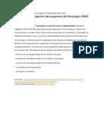 Lineas de Investigación del programa de Psicología UNAD 2013