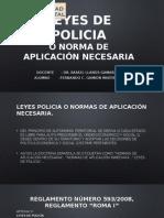 Leyes de Policia