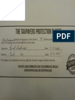 Taxpayer Protection Pledge--Brad Sunderland