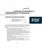 47 Person Centered Counseling in Rehabilitation Professions