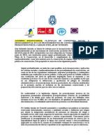 Contratación Pública Responsable, acuerdo institucional Cabildo Tenerife (Moción de Podemos, Pleno insular 30.10.15)
